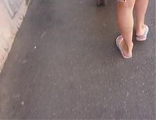 Nice french feet in the street