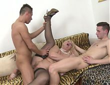 Taboo sex with granny and young boys