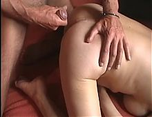 Cumshot on a beautiful ass