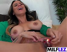 Three lesbian babes playing