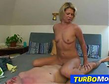Sporty blonde milf Radka 2nd sex scene