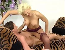 blonde mature loves to surprise her lover