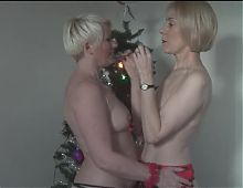 Mature blonds Xmas in July