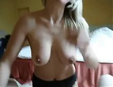 Beautiful and kinky blonde chick takes cock