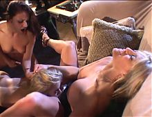 Hot blonde lesbian gets her tight wet pussy licked