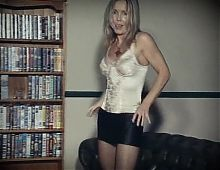 IT AIN'T OVER - vintage mature blonde strip dance tease