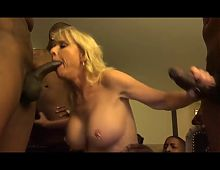 blonde mature women in gangbang
