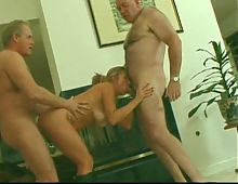 Hot mature threesome.