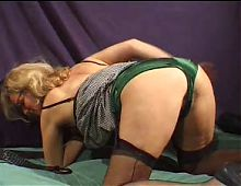 FRENCH MATURE n28 hairy blonde mom gangbang