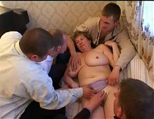 Big tit mamma's wake up gangbang.
