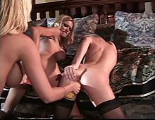 Briana Banks and hot girlfriends have lesbian threesome
