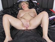 Gilf masturbates for long hard BBC