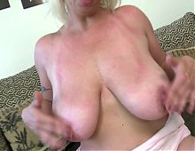 Slutty mom with big saggy tits and very hungry pussy