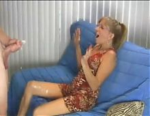 Hot mom crazy for cum