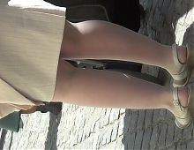 white pantyhose mature legs