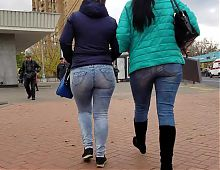 Two mature womans with big asses