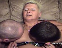 Larger mature get pleasured by son in laws while hubby fucks