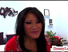 Donny Long breaks hard little asian pussy big titty attentio