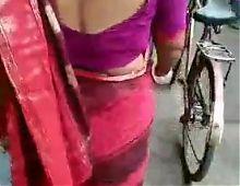 Sexy pink blouse saree indian bhabhi part 2