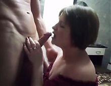 Slow blow job russian mature lady