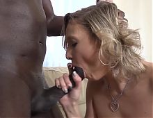 Nice interracial fuck mature blonde fucked by big black cock